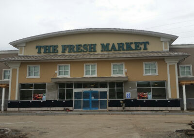 Fresh Market Exterior - Construction